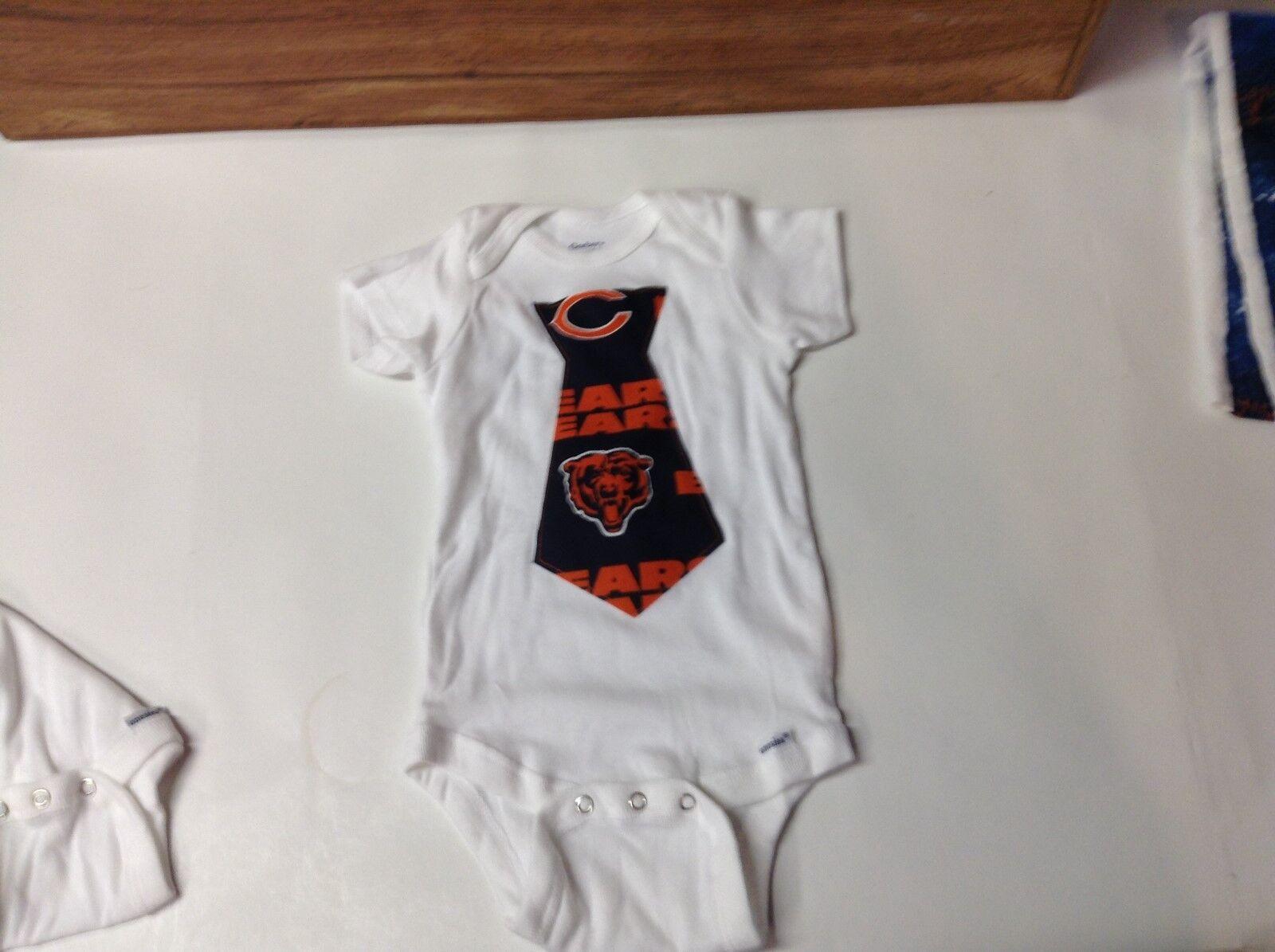Chicago Bears appliqued boys/girls onesie