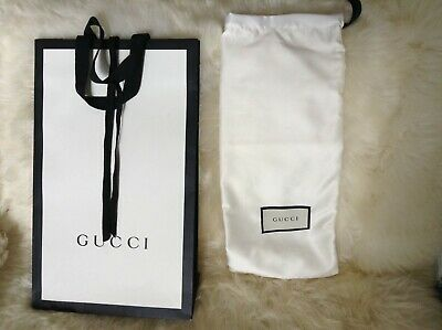 Gucci Black and White Gift Bag Bundle for Clothing, Shoes, Accessories