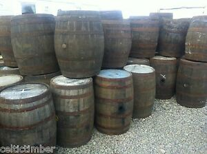 EX WHISKEY 40 GALLON OAK BARREL Wooden Keg Barrels Cider Pub Table.
