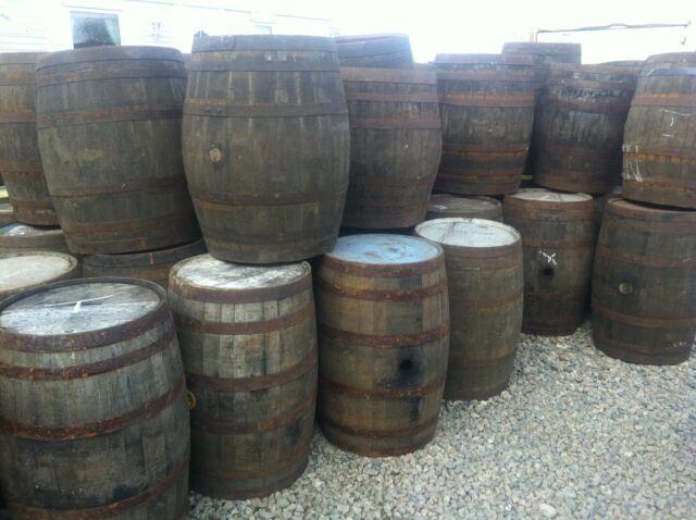 EX WHISKEY 40 GALLON OAK BARREL Wooden Keg Barrels Cider Pub Table.