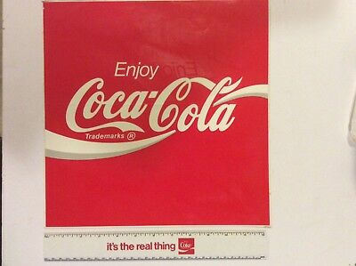 Coca-Cola Collectible Vintage 1980s Vinyl Decal- New Old Stock