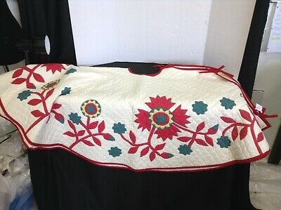 Christmas Patchwork Tree Skirt (POTTERY BARN MAISIE ANTIQUE PATCHWORK QUILT HEIRLOOM CHRISTMAS TREE SKIRT 60