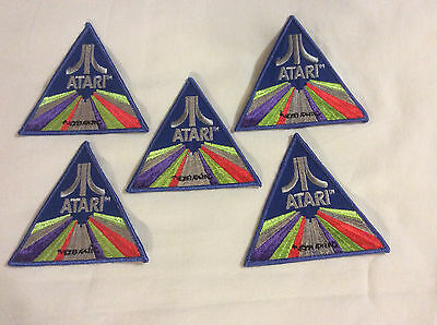 Lot Of 5 Vintage 1980's Atari Patchs badges (NOS)