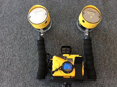 Sealife Reefmaster 35mm underwater camera with dual external flash with case