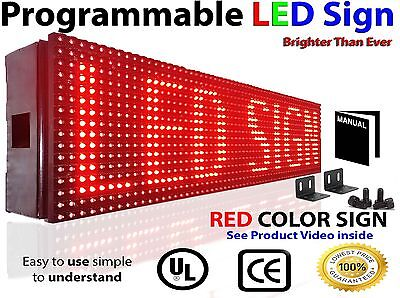Led Sign 25x6 Outdoor Programmable Red Color Display Open Message Sign Board