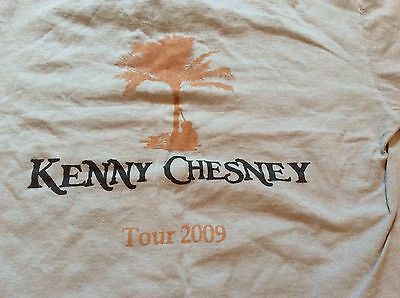 Kenny Cheney 2009 Concert Tour Local Crew Lighting & Transport T-Shirt Medium