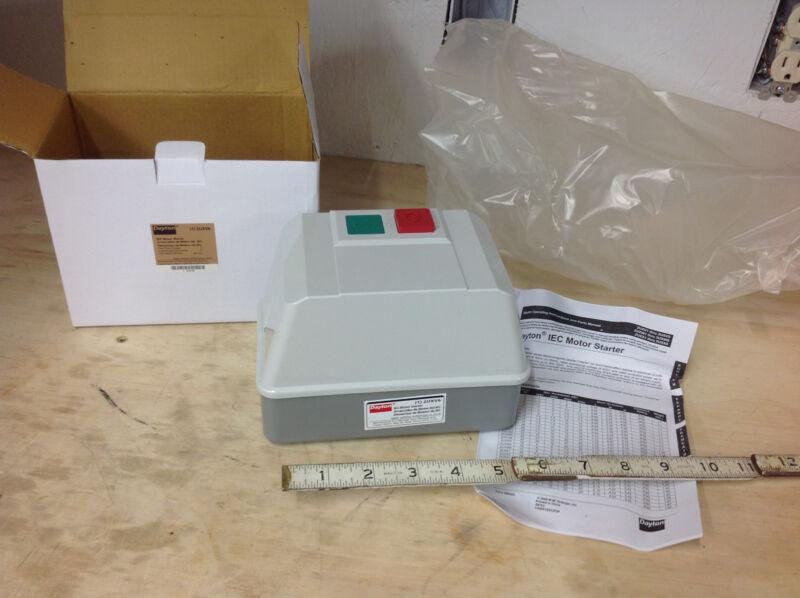 Dayton 2UXV6 Starter Motor IEC Contactor, 240VAC, 12A, NEMA 12, 3P. NEW IN BOX