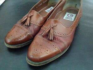 Men's brown leather dress shoes size 9.5