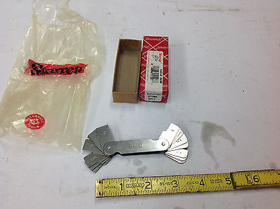 New Starrett 272ma Metric Radius Or Fillet Gauge .75 - 5mm Winventory Etching