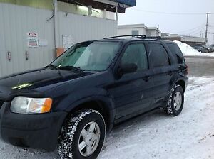 2003 Ford Escape Noir Fourgonnette, fourgon
