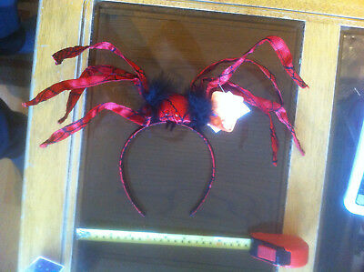 Scary Spider Kostüme (Scary Red Spider Moveable Legs Head band Halloween Claire's Accessories £10 RRP)