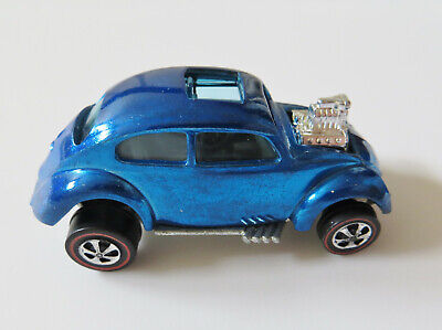 Redline Hot Wheels 1968 Custom Volkswagen Blue spectraflame C-9.5 NM Mint BP HK