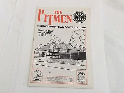 Hednesford Town V Bilston Town  Beazer Homes League February 1991