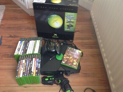 Microsoft Original Xbox Game Console bundle 25 Games Like Gun Good Condition