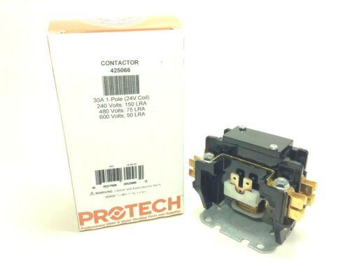 1 pole 30 amp Contactor 24V Coil Protech 425066 HVAC Quality Genuine Part ** NEW