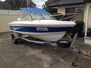 boat runabout 1600 mustang 16 ft 60hp johnson 4 stroke immaculate Kings Park Blacktown Area Preview