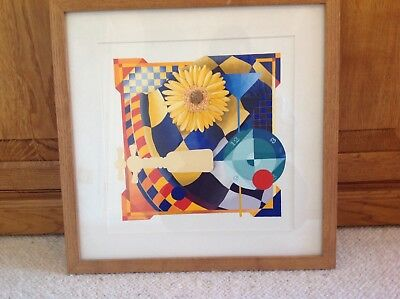 Contemporary original abstract framed painting by Jon Gubbay