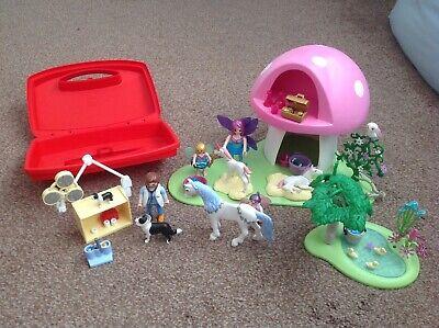 VGC Playmobil 6055 Princess Fairies Playset inc Toadstool House plus Vet clinic