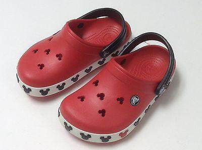 $35 Crocs Crocband Mickey II Kids Boys Clog Red Black All Size CLEARANCE - Clearance Boys