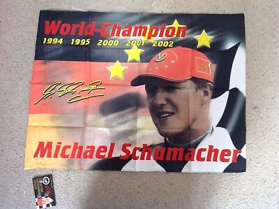 Michael Schumacher flag 50 x 70 cm F1 Racing FERRARI F1 BENETTON  for sale  Banbury