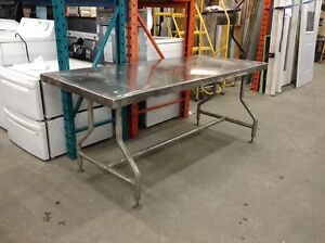 Stainless Steel Table at the Waterloo Restore