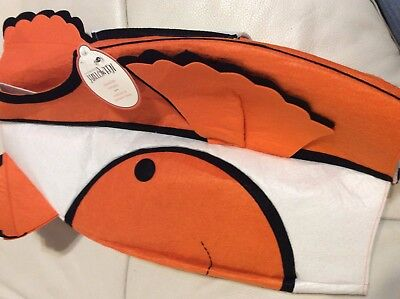 Pottery Barn Kids Clown Fish Costume 3T Soft Fast Shipping NWT!