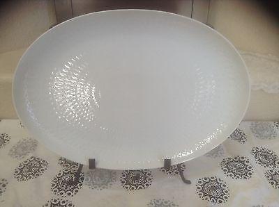 "Rosenthal Romance/Motif Bjorn Winblad White 15"" Oval Serving Plate/Platter EEUC"