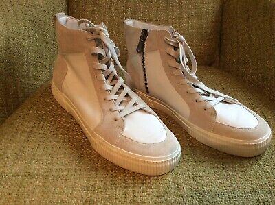 vince mens high top italian zip up sneaker size 11 ()