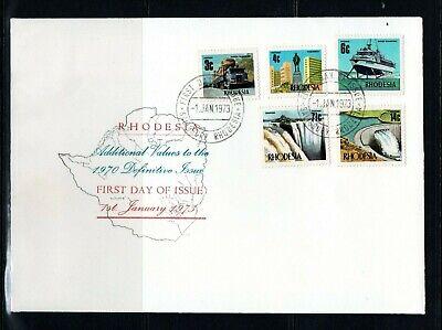 1973 Zimbabwe 5 additional values for definitive set on illustrated FDC