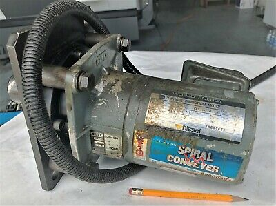 Nissei Gtr Spiral Conveyor 3 Phase Injection Auger Motor Gob-4004  4624