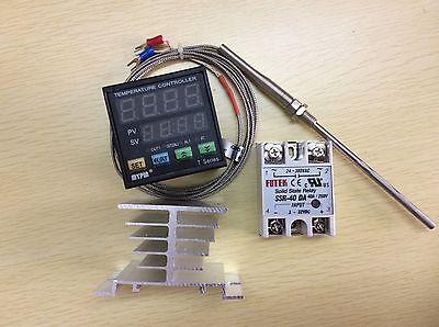 Digital Fc Pid Temperature Controller Ta4-snr K-type Probe 40a Ssrheat Sink