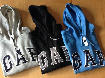 Genuine Men's GAP Logo Hoodie - S-XL - GREY, BLUE, BLACK, RED, NAVY, TEAL - NEW