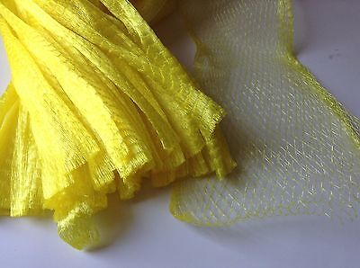 15 Yellow 100 Reusable Nylon Poly Mesh Net Bags For Produce Fruit Vegetable Nut