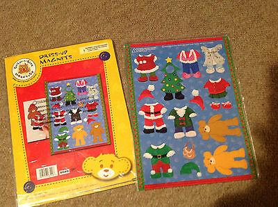 NIP Build-a-bear dress up magnets Christmas holiday  ()