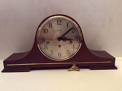 VTG Germany Schmeckenbecher 8-day 8-Hammers Triple Chimes Mantel Clock. Works.