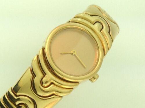 "Ladies Bulgari ""parentesi"" Watch (bj-01) Solid 18k Yellow Gold / Quartz Movement"