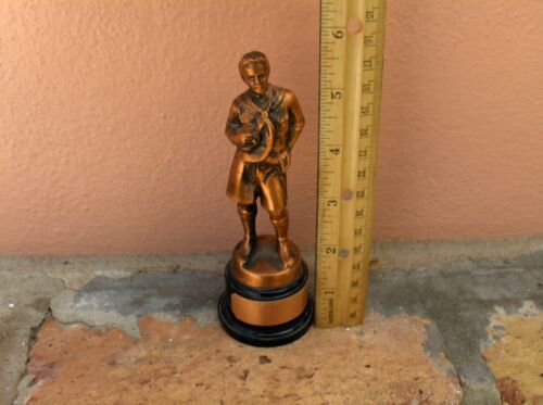 """VINTAGE BOY SCOUT STATUE FIGURE BY A.C. REHBERGER REH-CRAFT CHICAGO 5 1/2"""" TALL"""