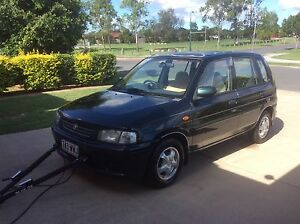 1997 Mazda 121 Hatchback with Blue Ox Towbar suit Motorhome Tow Car Logan Reserve Logan Area Preview