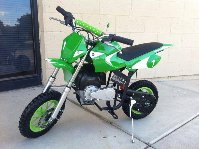 Brand New High Performance 40cc 4 Stroke Automatic Green Mini Dirt Bike
