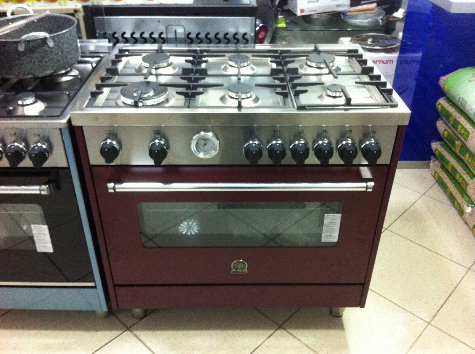 Cucina a gas la germania 90x60 6 fuochi forno gas ventilato da 147 litri eur - Cucina a gas da 90 ...