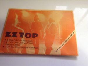 ZZ Top 1976 concert program