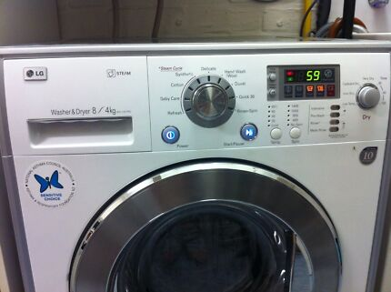 LG 8/4kg steam washer dryer combo  1400rpm RRP$1899 Beecroft Hornsby Area Preview