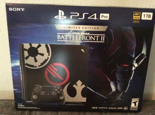 Sony PlayStation 4 Pro 1TB Limited Edition Star Wars Battlefront II Console Bundle Jet Black 3002421