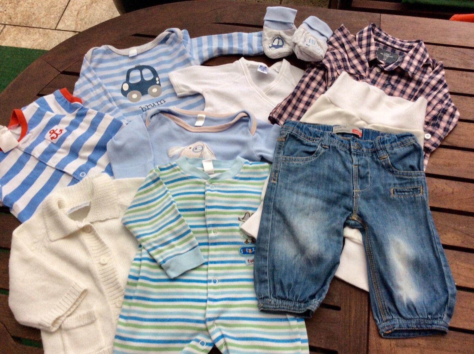Gr. 62 Babykleidung Jungen Paket 10 Teile H&M, okay, C&A, Bekleidungspaket