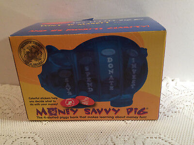 Edward Jones Money Savvy Pig Piggy Bank Yellow Educational Save Spend Invest NIB ()