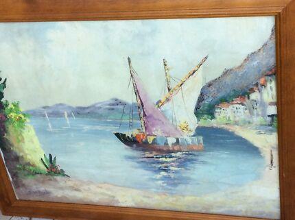 Large Size Framed 'Bijl' Original Oil Painting
