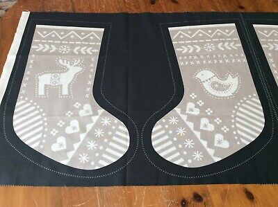 Irene and Lewis Stocking panels - ready to sew for Xmas ()