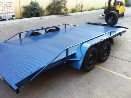 CAR TRAILER TANDEM AXLE 16-FT BEAVER 14 15 12 FT ALSO AVAILABLE Ingleburn Campbelltown Area Preview