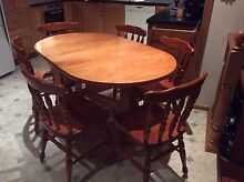Gate leg dining table 6 chairs Reid North Canberra Preview
