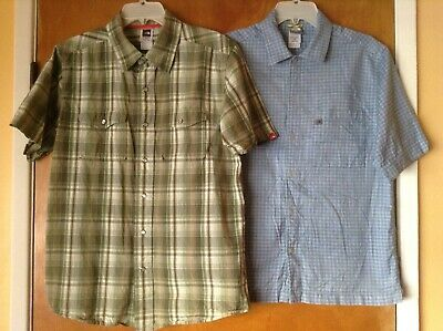Lot of 2 THE NORTH FACE short sleeve cotton shirt Men's S M
